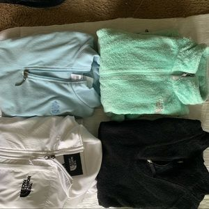 North face 5 pc jacket lot